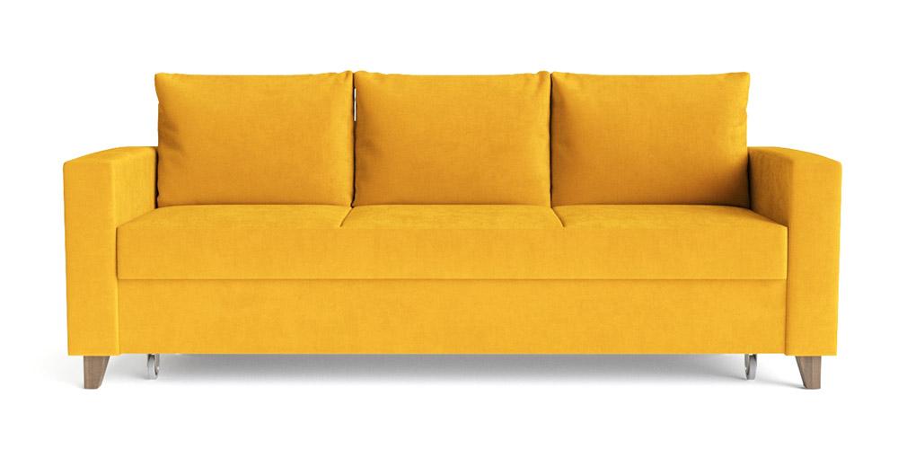 Купить трехместный желтый диван-кровать модели «Эмилио 933с-д» в Санкт-Петербурге | Шведская мебель